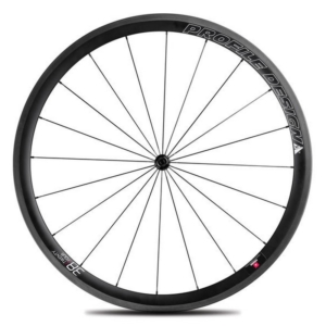 Zapletené kolo Profile Design 38 TwentyFour Front Full Carbon Clincher Wheel SHM