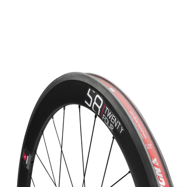 Zapletené kolo Profile Design 58 TwentyFour Front Full Carbon Clincher Wheel